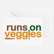 Runs on Veggies Greeting Card