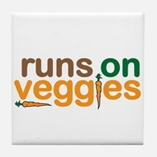 Runs on Veggies Tile Coaster