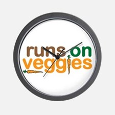 Runs on Veggies Wall Clock