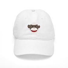 Sock Monkey Face Baseball Cap
