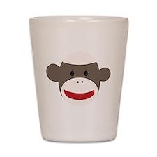 Sock Monkey Face Shot Glass