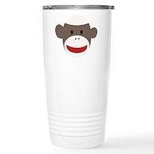 Sock Monkey Face Thermos Mug