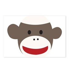 Sock Monkey Face Postcards (Package of 8)