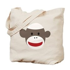 Sock Monkey Face Tote Bag