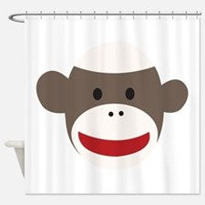 Sock Monkey Face Shower Curtain