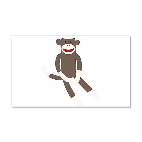 Sock Monkey Car Magnet 20 x 12