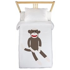 Sock Monkey Twin Duvet