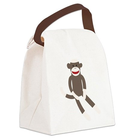 Sock Monkey Canvas Lunch Bag