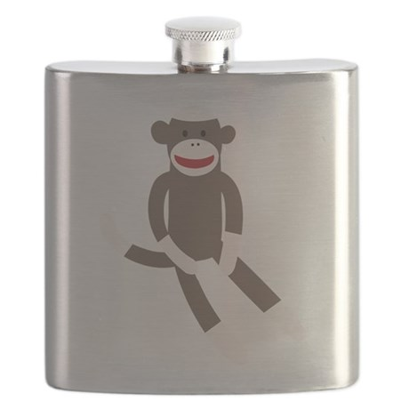 Sock Monkey Flask