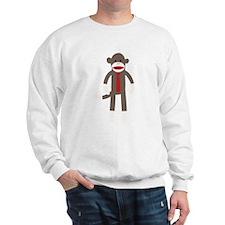Red Tie Sock Monkey Sweatshirt