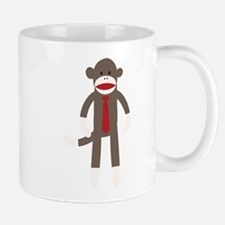 Red Tie Sock Monkey Mug