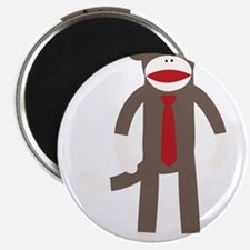 "Red Tie Sock Monkey 2.25"" Magnet (100 pack)"