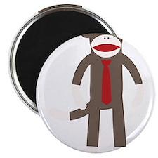 Red Tie Sock Monkey Magnet