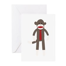 Red Tie Sock Monkey Greeting Cards (Pk of 20)