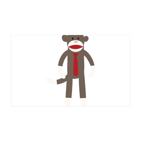 Red Tie Sock Monkey 35x21 Wall Decal