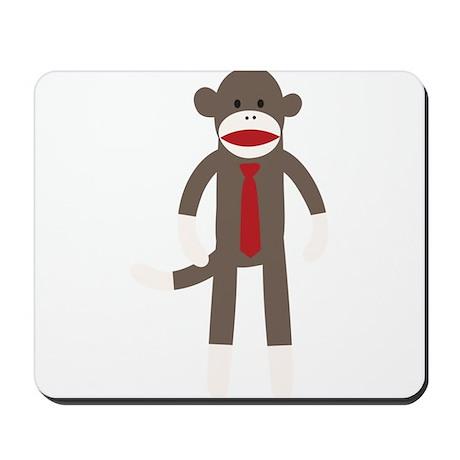 Red Tie Sock Monkey Mousepad