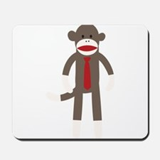Red Tie Sock Monkey Mousepad