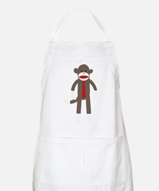 Red Tie Sock Monkey Apron