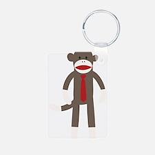 Red Tie Sock Monkey Keychains