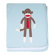 Red Tie Sock Monkey baby blanket