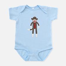 Red Tie Sock Monkey Infant Bodysuit