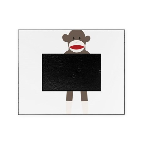 Red Tie Sock Monkey Picture Frame