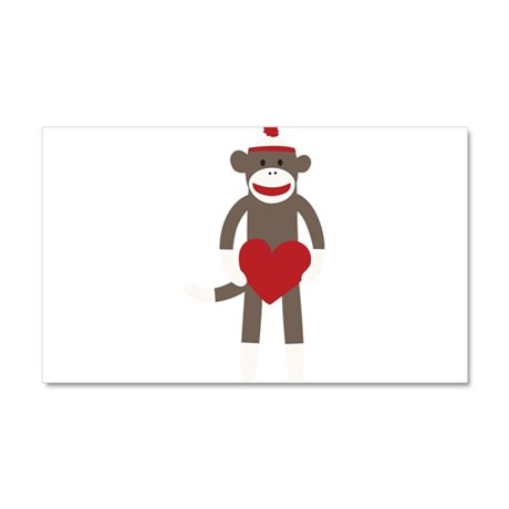 Valentine Monkey Car Magnet 20 x 12