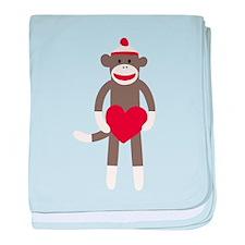 Valentine Monkey baby blanket