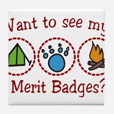 Merit Badges Tile Coaster