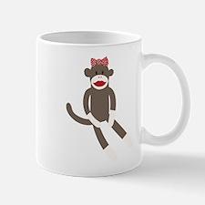 Polka Dot Sock Monkey Mug