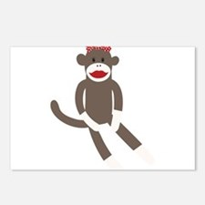Polka Dot Sock Monkey Postcards (Package of 8)