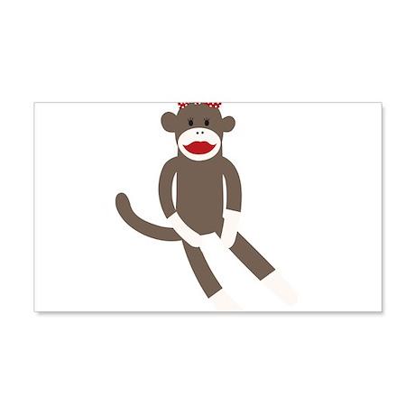 Polka Dot Sock Monkey 20x12 Wall Decal