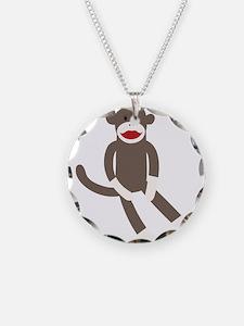Polka Dot Sock Monkey Necklace