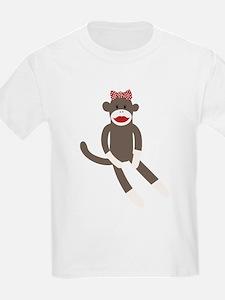 Polka Dot Sock Monkey T-Shirt