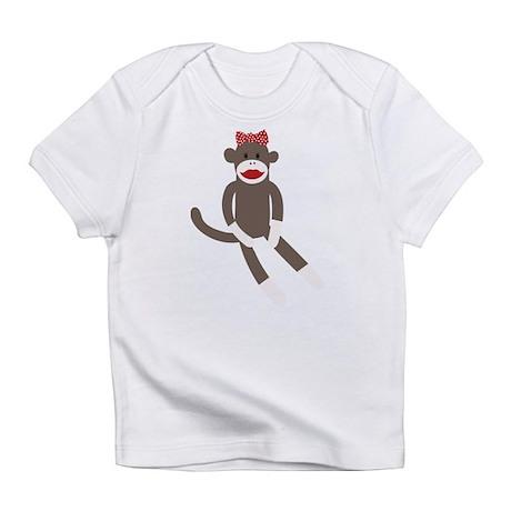 Polka Dot Sock Monkey Infant T-Shirt
