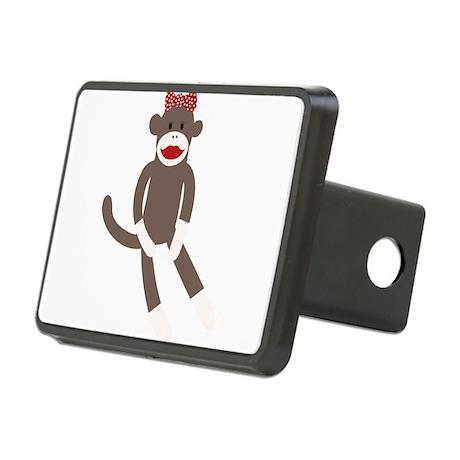 Polka Dot Sock Monkey Rectangular Hitch Cover