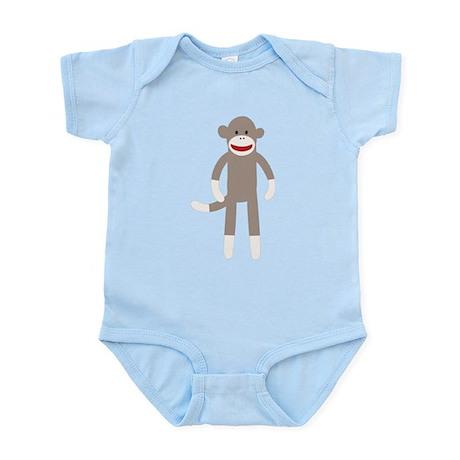 Happy Sock Monkey Infant Bodysuit