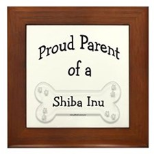 Proud Parent of a Shiba Inu Framed Tile