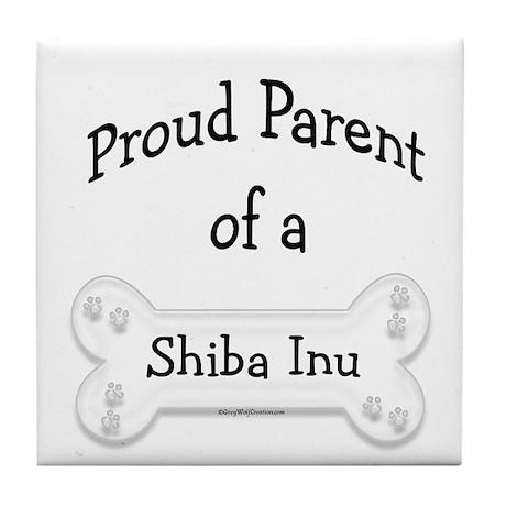 Proud Parent of a Shiba Inu Tile Coaster