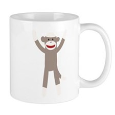 Excited Sock Monkey Mug