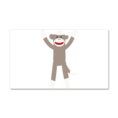 Excited Sock Monkey Car Magnet 20 x 12
