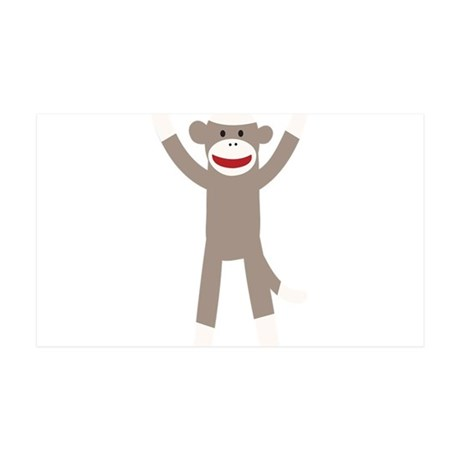 Excited Sock Monkey 35x21 Wall Decal