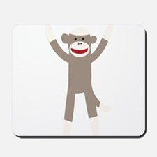 Excited Sock Monkey Mousepad