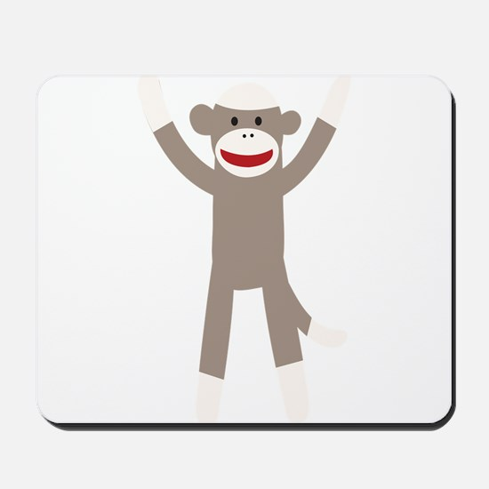 Excited Sock Monkey Mousepad