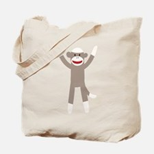 Excited Sock Monkey Tote Bag