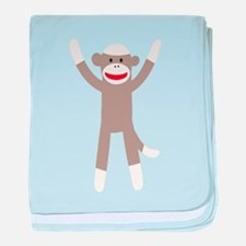 Excited Sock Monkey baby blanket