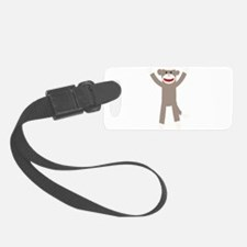 Excited Sock Monkey Luggage Tag