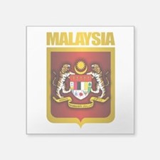 "Malaysia Gold.png Square Sticker 3"" x 3"""