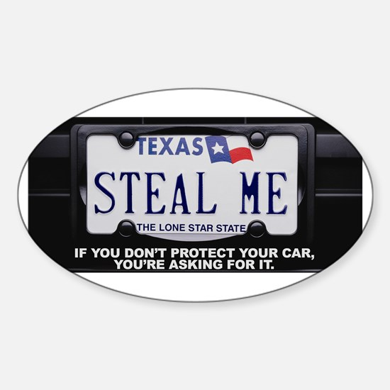 Steal Me Sticker (Oval)