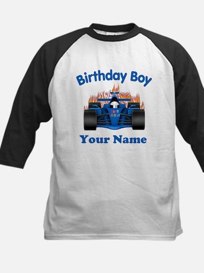 Birthday Boy Car Kids Baseball Jersey